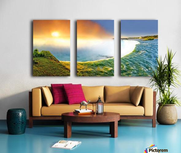 Sunrise at Niagara Falls Split Canvas print