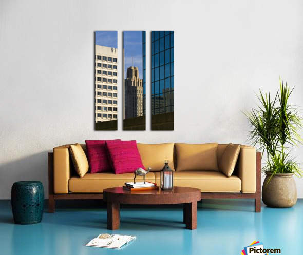 Standing In The City Split Canvas print