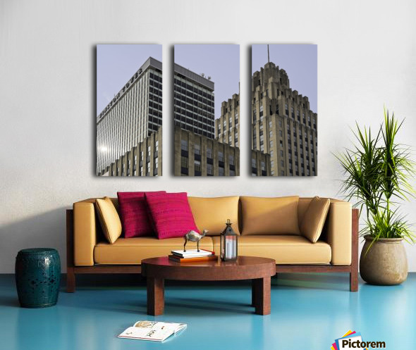 Winston Tower and Reynolds Building Split Canvas print