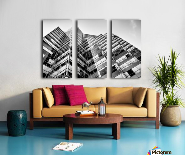 Glass Towers Split Canvas print
