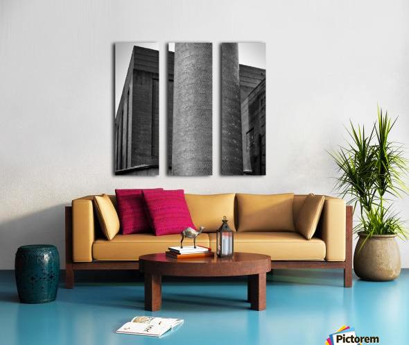 Bricks of Bailey BW Split Canvas print