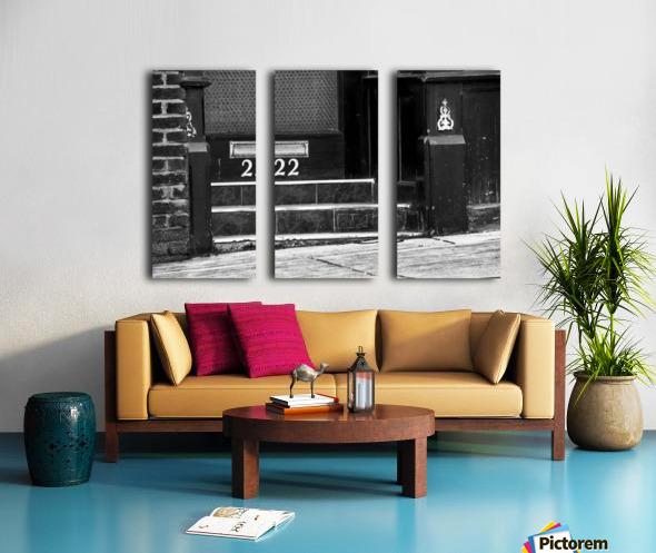 222 Split Canvas print