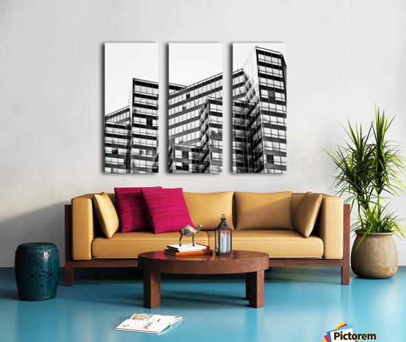 Glass Towers 2 Split Canvas print