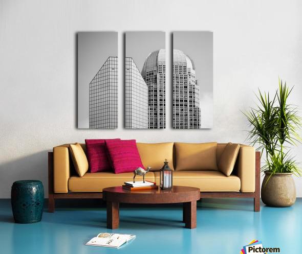 Two Giants BW Split Canvas print