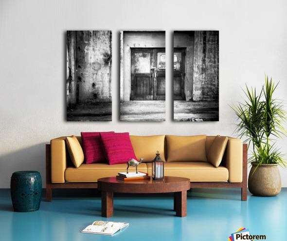 Power Plant Door 1 BW Split Canvas print
