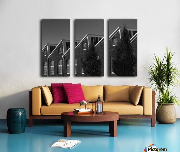 Sawtooth Split Canvas print