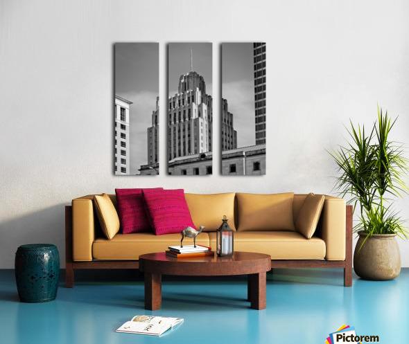 Historic Reynolds Building 2 bw  Split Canvas print
