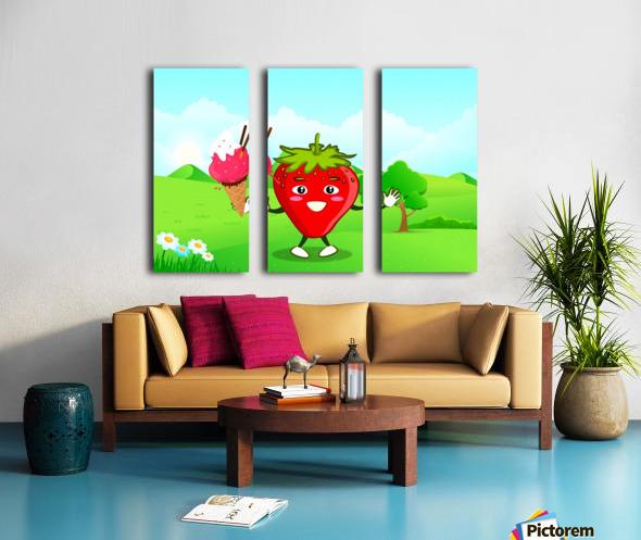Strawberry Ice Cream_OSG Split Canvas print