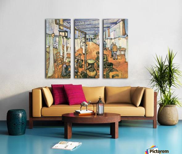 Dormitory in the Hospital in Arles by Van Gogh Split Canvas print