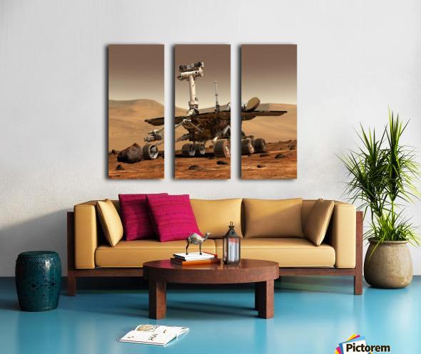 Artists Rendition of Mars Rover. Split Canvas print