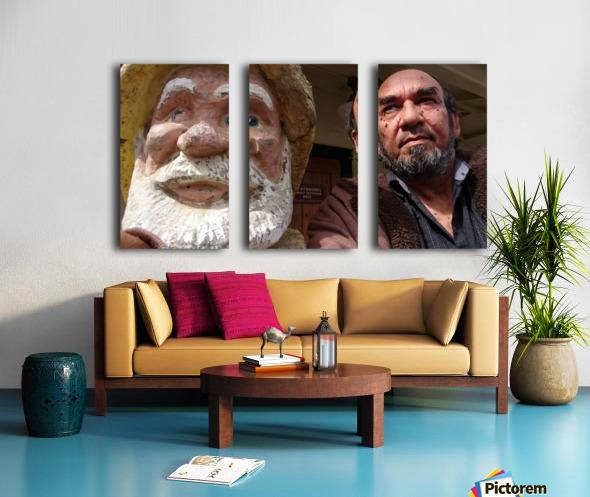ahson qazi_self Portrait_artist_painter_calligrapher_Shades of divinity_Photographer 2 Split Canvas print