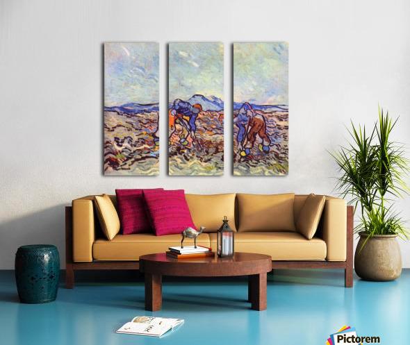 Farmers at work by Van Gogh Split Canvas print