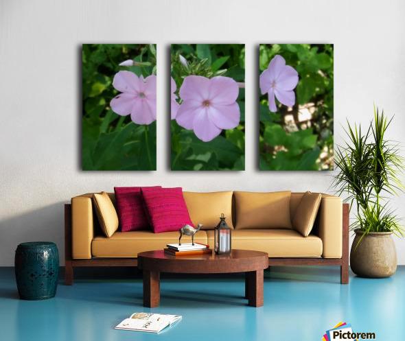 Small Purple Flowers Split Canvas print