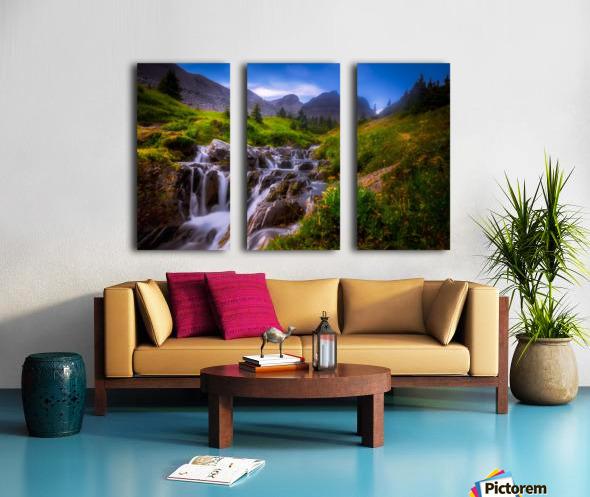 Chasing Waterfall  Split Canvas print