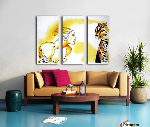Cat Eyes Split Canvas print