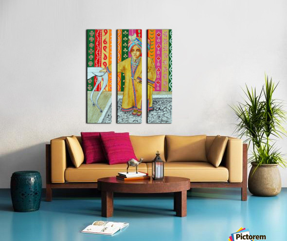 Mini Maharajah Split Canvas print