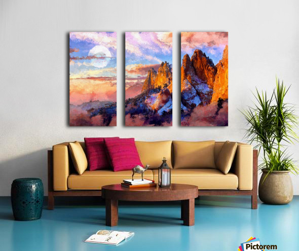 Colorado Mountains - Digital Painting III Split Canvas print