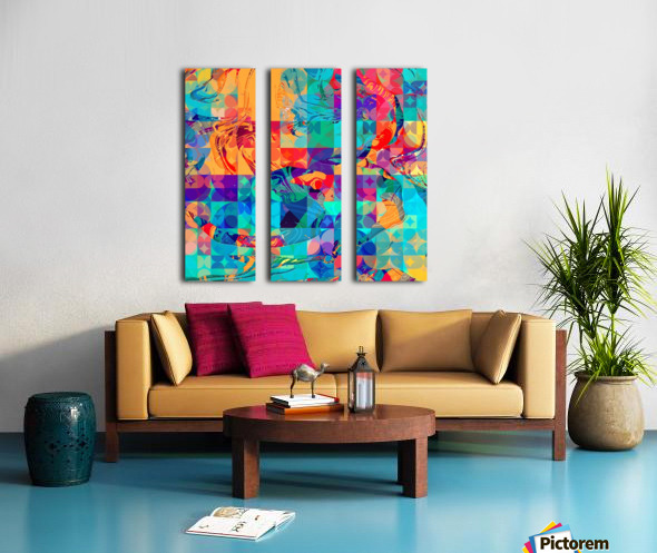 Geometric X Split Canvas print