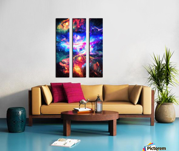 Colorful Galaxy  Split Canvas print