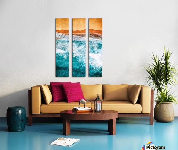 Tropical VI - Beach Waves II  Split Canvas print