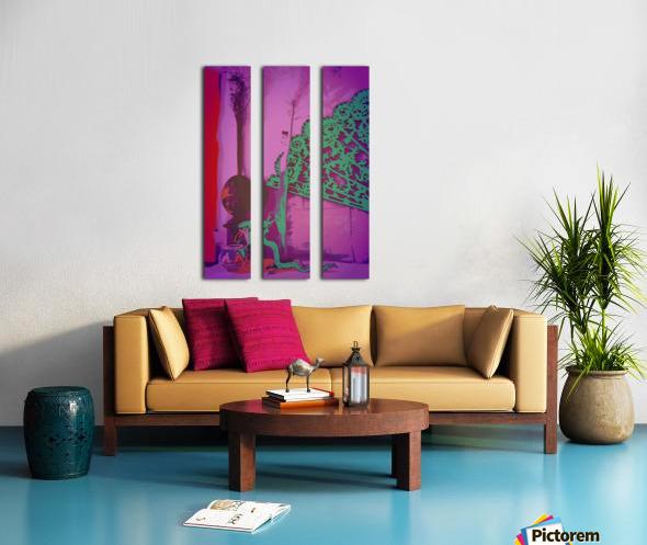 Altar to Unnamed Gods -- Purple & Verdigris Split Canvas print