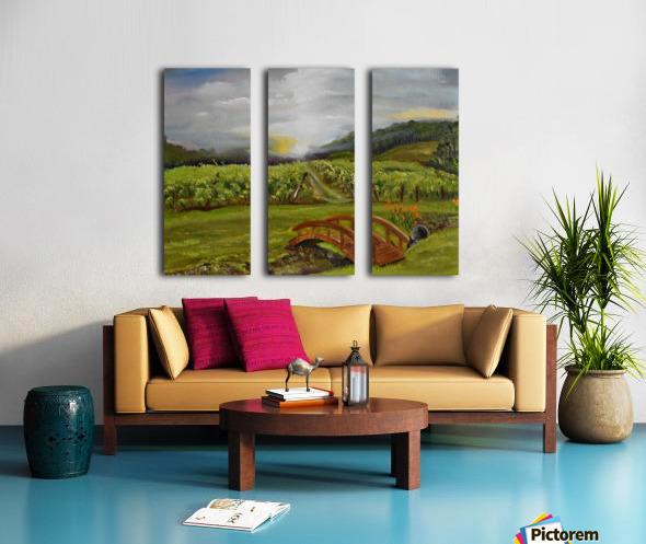 Sunshine Bridge at Cartecay Vineyard Split Canvas print