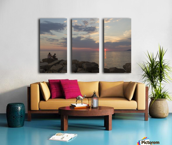 Sunset in Acciaroli Split Canvas print