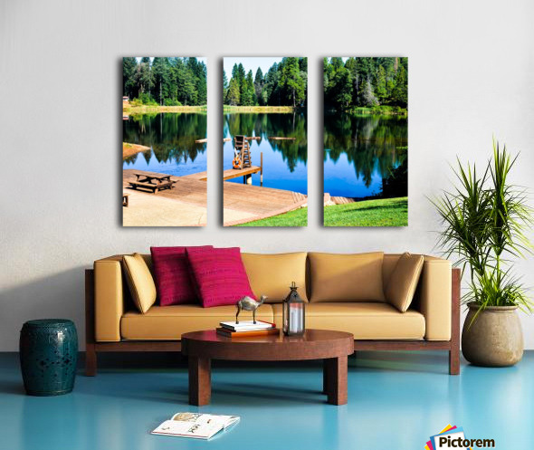 Saturated Scene Split Canvas print