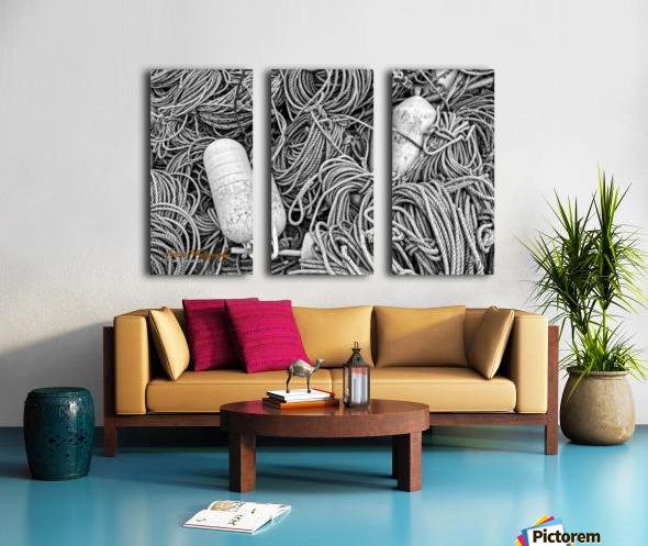 Rope & Buoys - AP 3733 Split Canvas print