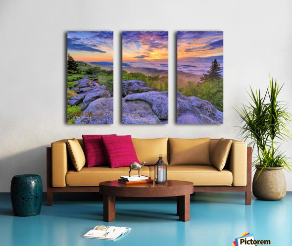 Sunrise - AP 3790 Split Canvas print
