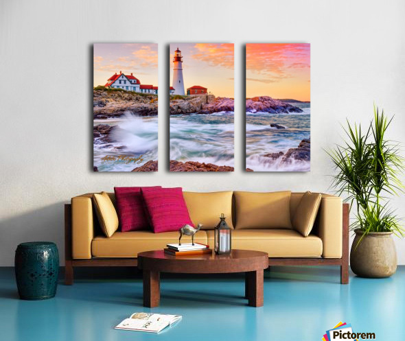 Crashing Waves - APC-113 Split Canvas print