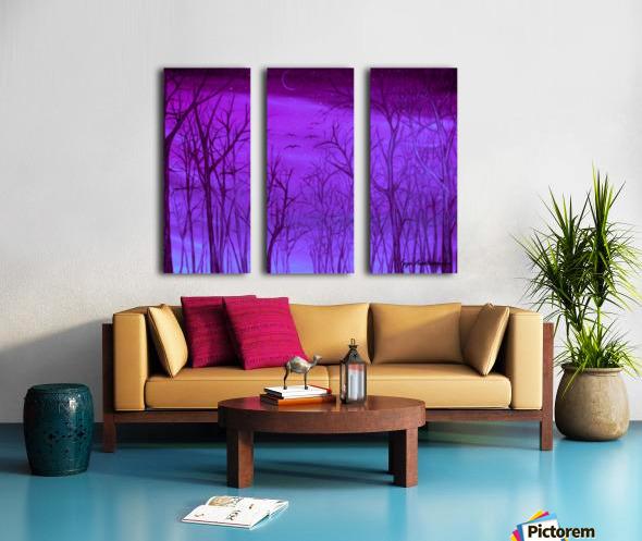Forest Light Split Canvas print
