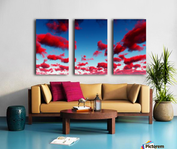 Deep Red Clouds Split Canvas print