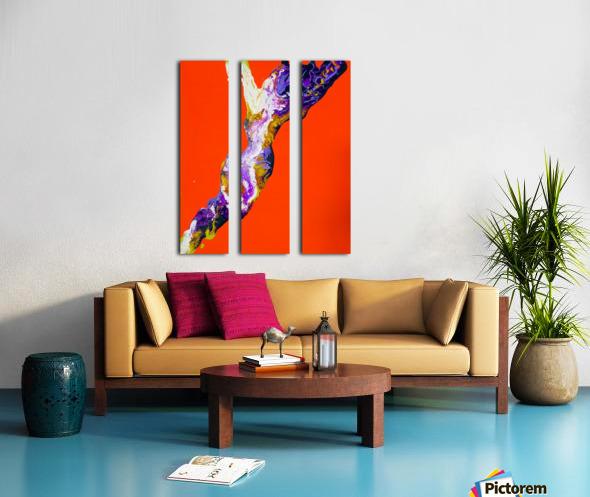 The Shape Split Canvas print