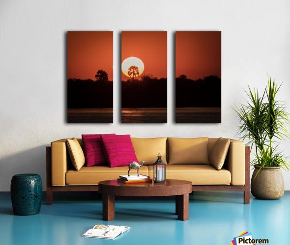 Sunset of Zimbabwe Split Canvas print