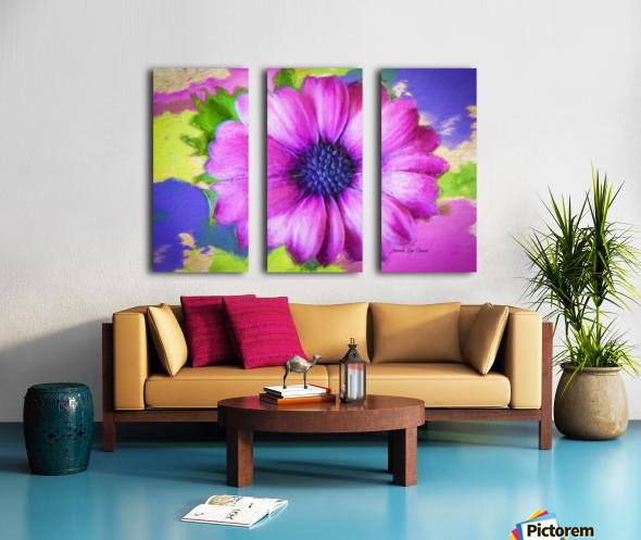 Purple Storm Split Canvas print