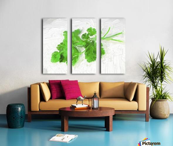 Cilantro Split Canvas print