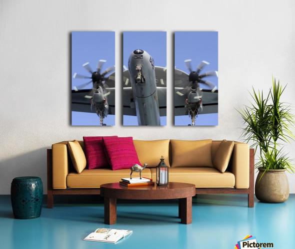 An E-2C Hawkeye prepares for landing. Split Canvas print