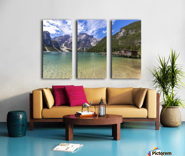 Lake of Braies Split Canvas print