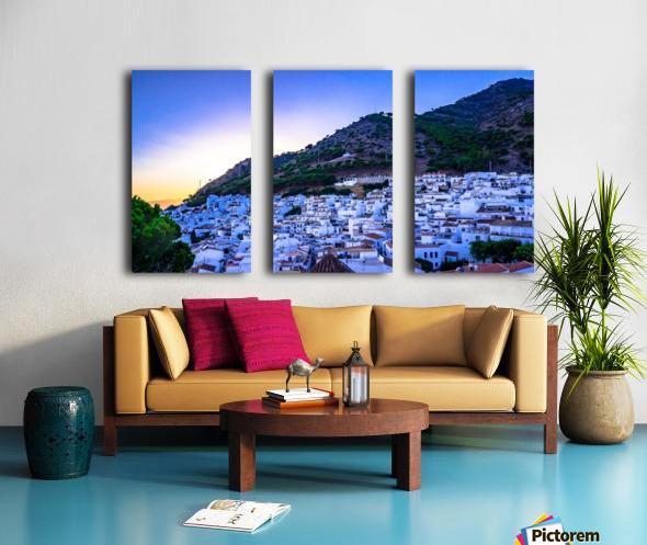 Sunset in Mijas Split Canvas print