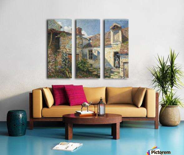 The Farmyard, Moret Split Canvas print