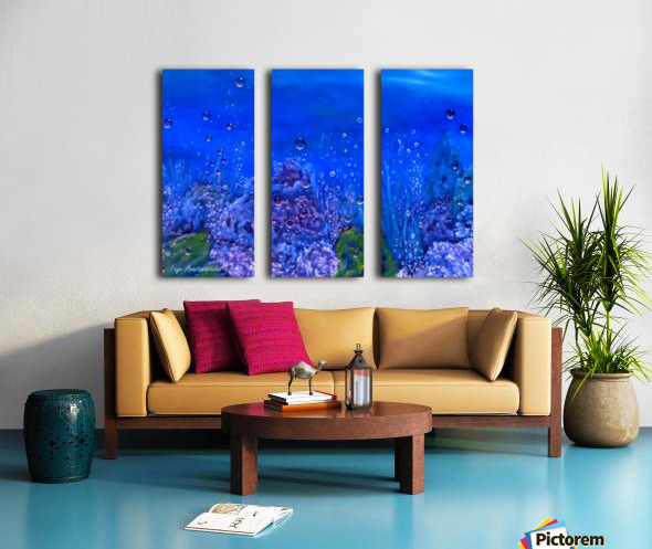 Coral Reef Split Canvas print