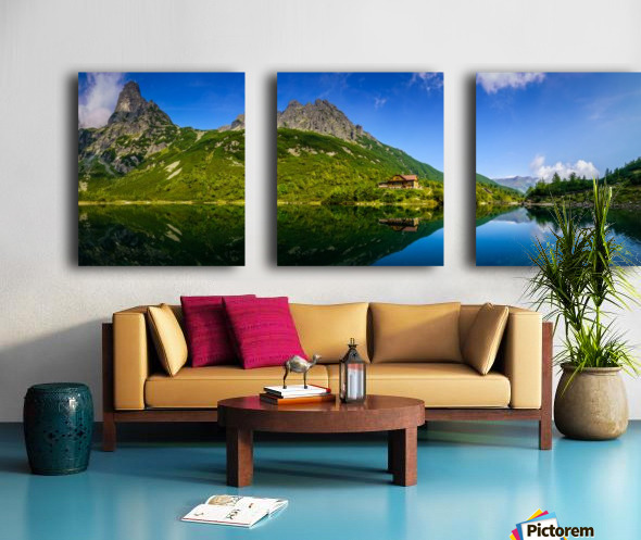Mountain cottage at the Zelene pleso Split Canvas print