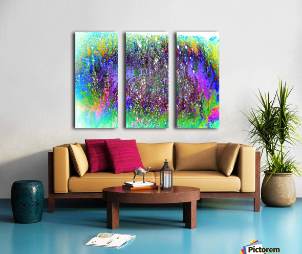 Bubbles Reimagined 61 Split Canvas print