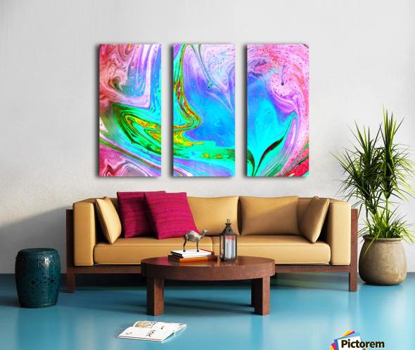 bubbles Reimagined 65 Split Canvas print