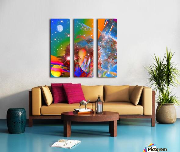 Cosmic Dream Split Canvas print