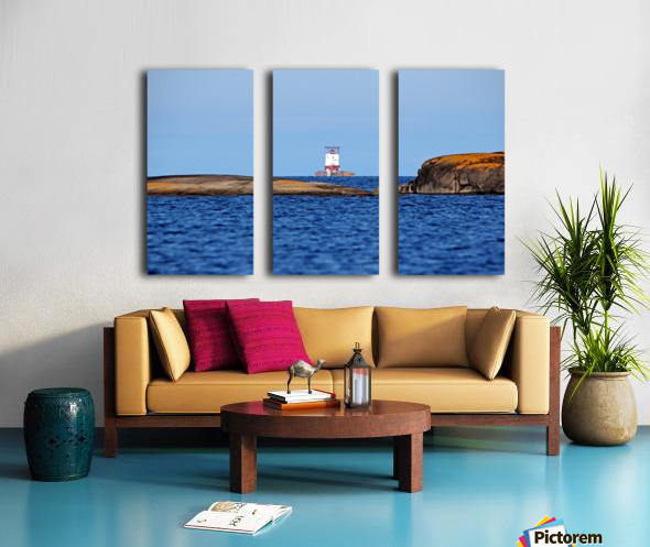 Red Rock Lighthouse Georgian Bay Split Canvas print