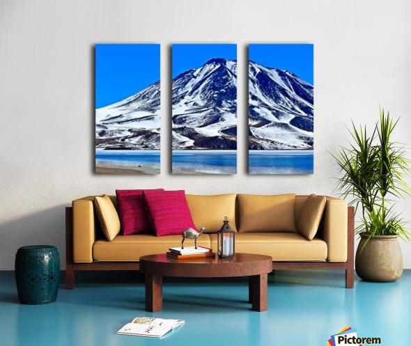 Laguna Miscanti Split Canvas print