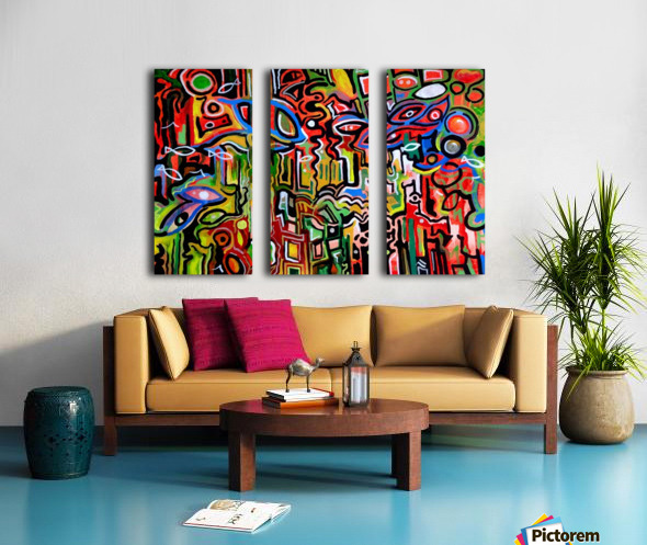 Abstract painting 1 2018 Split Canvas print