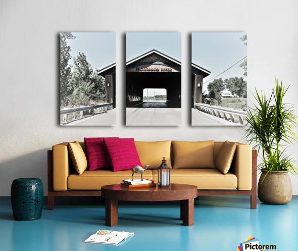 Blanchard Covered Bridge Split Canvas print